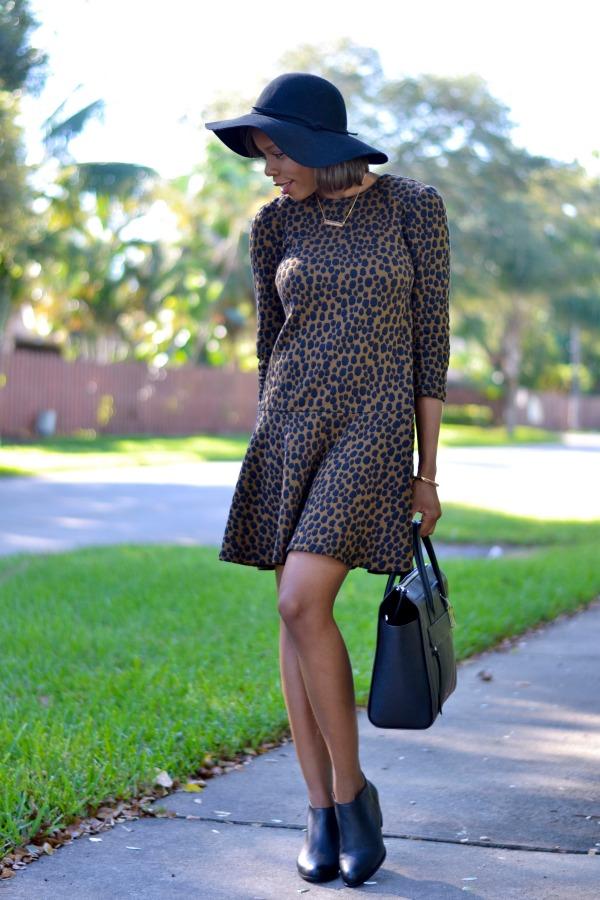 LOFT Animal Print Dress | Fall Outfit Ideas