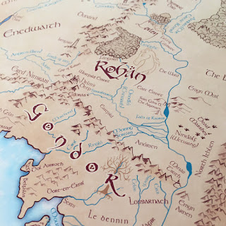 Middle Earth Map Detail
