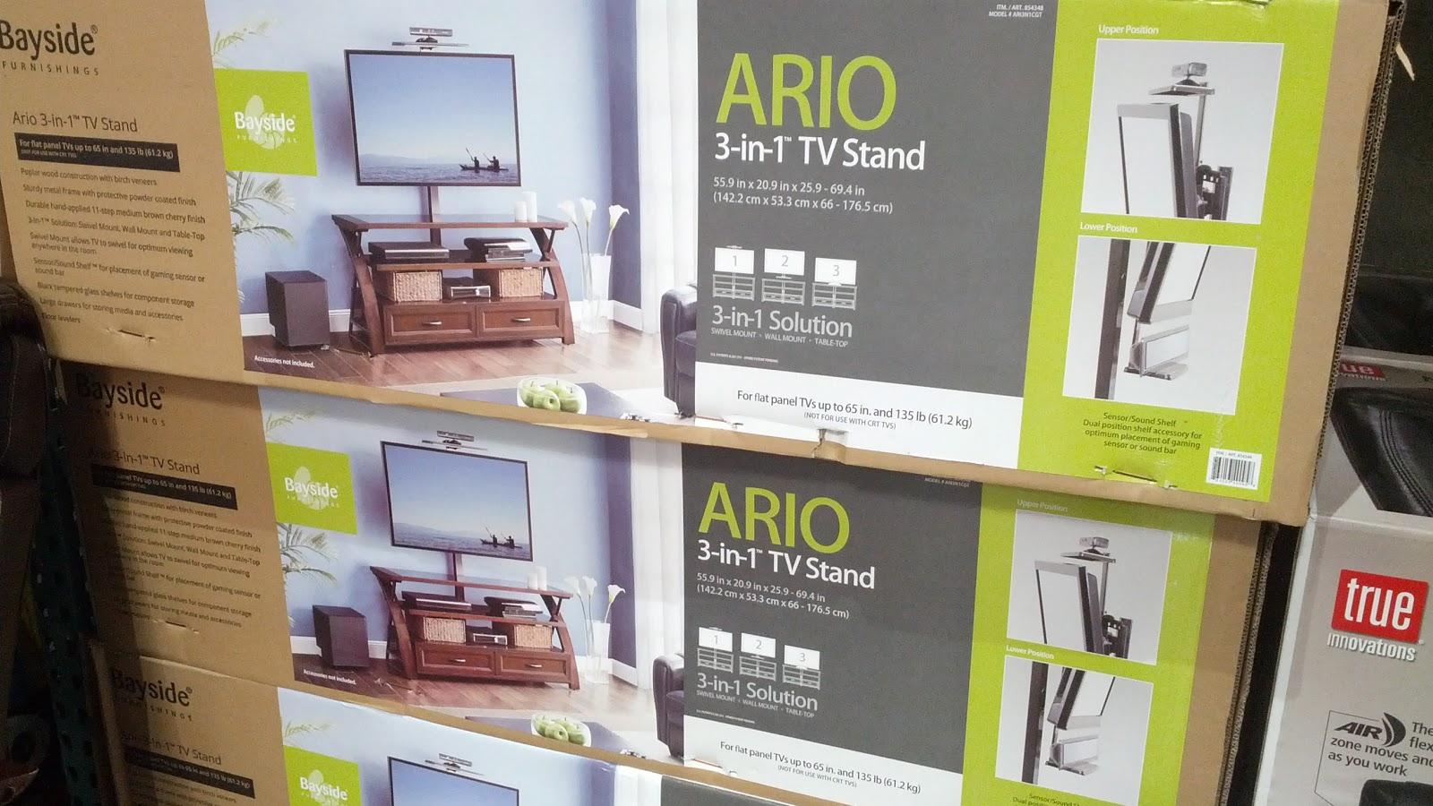 Bayside Furnishings Ario 3 In 1 Tv Stand Costco Weekender