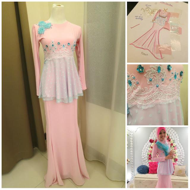 Saya nak baju peplum, colour pink & baby blue dan ada lace. Akak ...