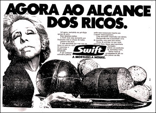 mortadela Swift, os anos 70; propaganda na década de 70; Brazil in the 70s, história anos 70; Oswaldo Hernandez;