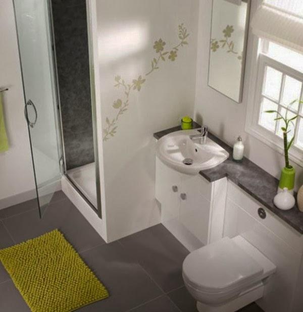 Baño Con Sanitarios Verdes:Diseños de baños pequeños – Colores en Casa