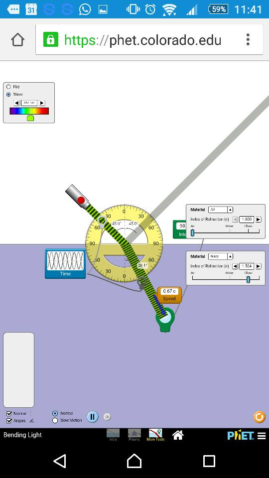 Open source physics singapore december 2015 bending light model by phet fandeluxe Gallery