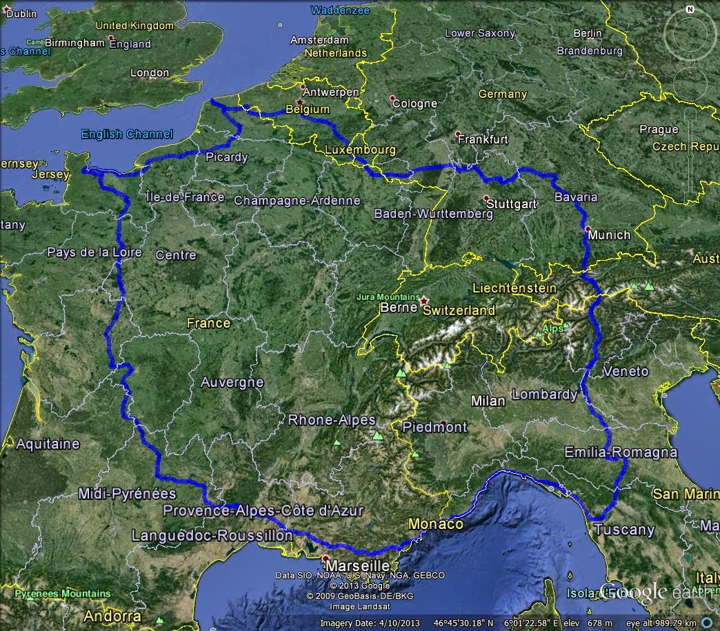 Hogs of War Tour, Route Map