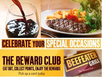 beefeatergrill.co.uk/rewardclub: Redeem Beefeater Grill Reward Club Points online