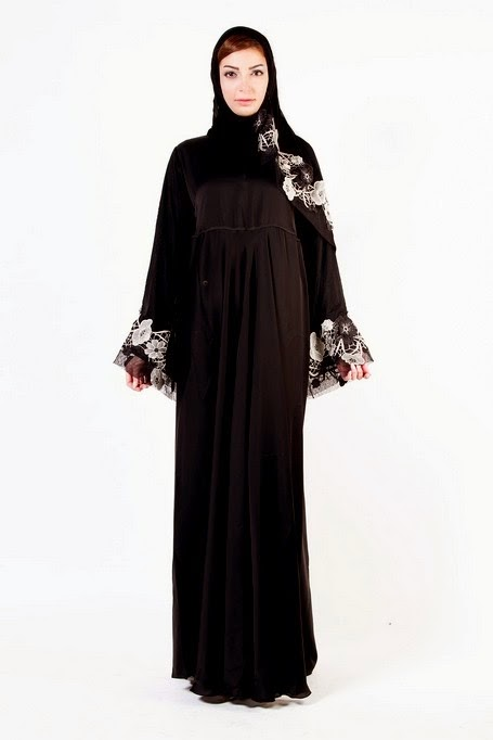 New Abaya And Hijab 2014 Collection With Latest Classic