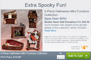 Halloween Mini Furniture from Publishers Clearing House