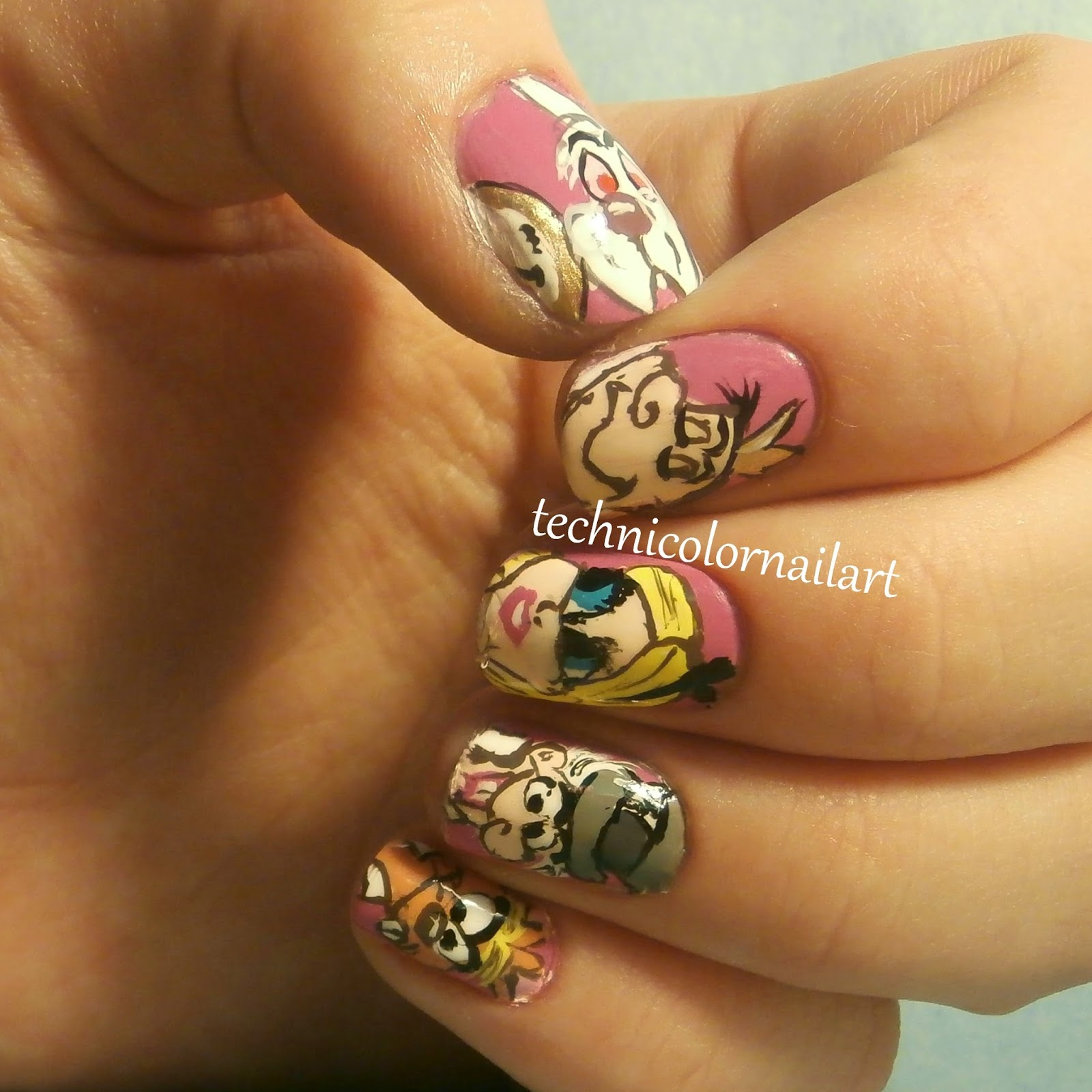 Technicolor Nail Art: NCC: Alice in Wonderland Nail Art