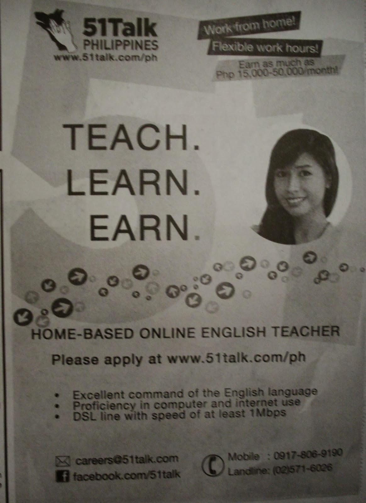 Work From Home, 51Talk Philippines, Home-based Online English Teacher.