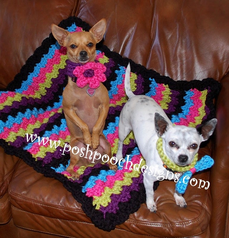 Free Crochet Patterns For Dog Blankets : Posh Pooch Designs Dog Clothes: Chunky Blanket Free ...