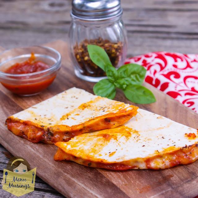 Pizza Quesadillas @menumusings.com