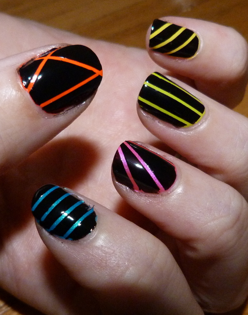 Black And Neon Nails Lovely Ie Bits Best Irish Beauty Blog Image Magazine Awards Aussie 2017
