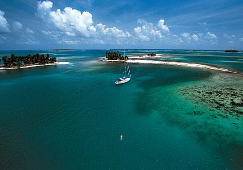 vista aérea do arquipélago