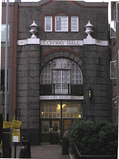 Conway Hall - for the Pod Delusion's 3rd birthday party.