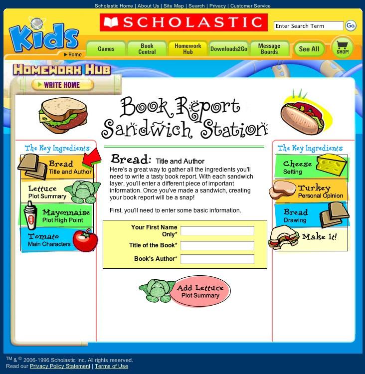 Book Report Help For Kids