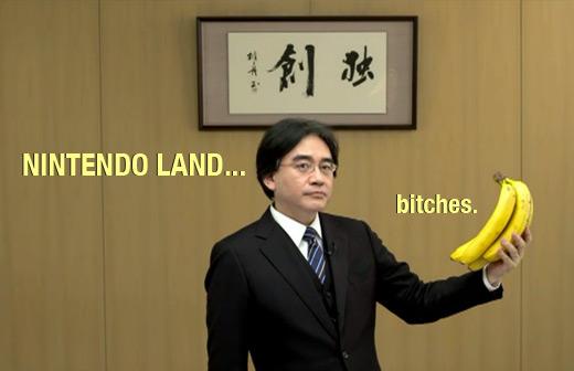 iwata banana nintendo land WiiU