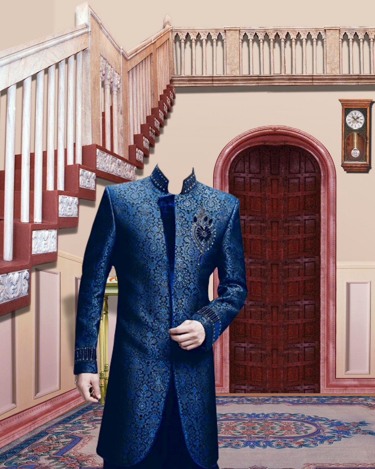 Psd Sherwani Style 2014 With Studio Background Luckystudio4u