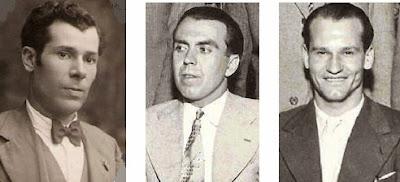 Los ajedrecistas Josep Devesa, Joan Comas y Jaime Casas
