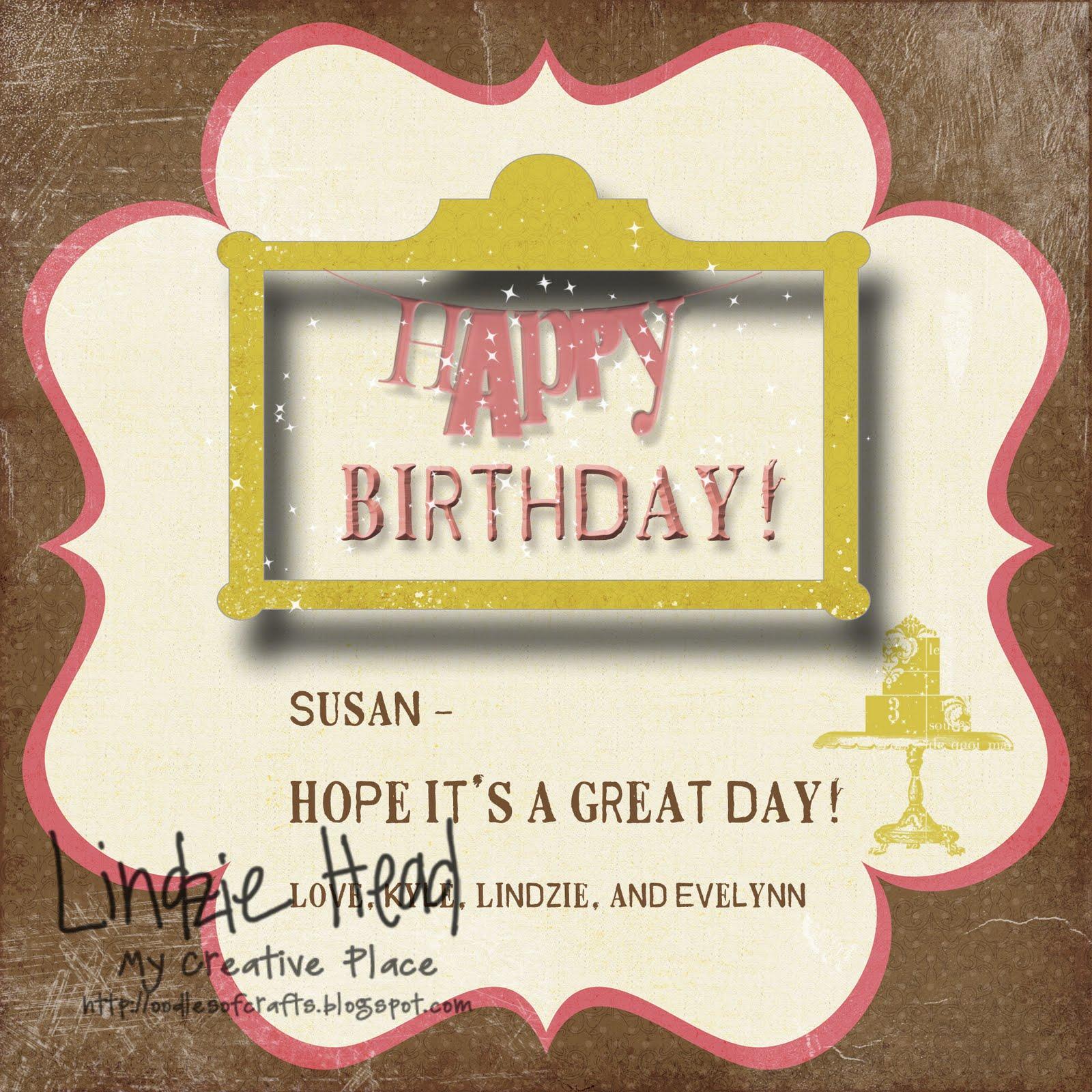 My Creative Place: {Digital} Birthday Cards