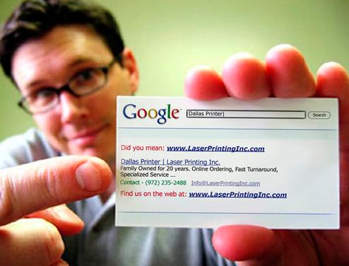 Tarjeta de visita Google