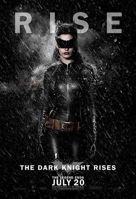 dark knight rises, batman, catwomen, anne hathaway, movie poster