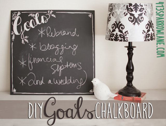 Tutorial DIY Goals Chalkboard