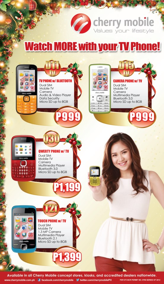 Cherry Mobile TV Phone Price List [December 2012]