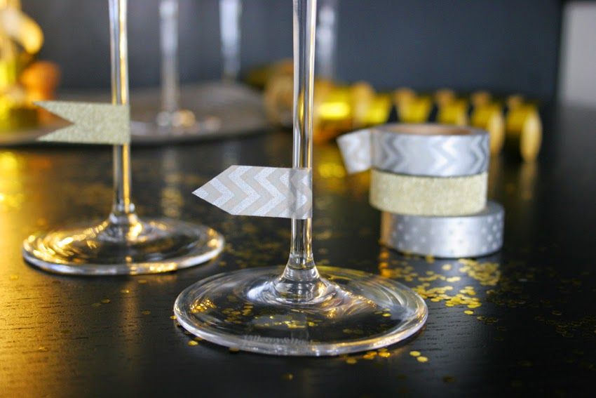 personalizar copas con washi-tape