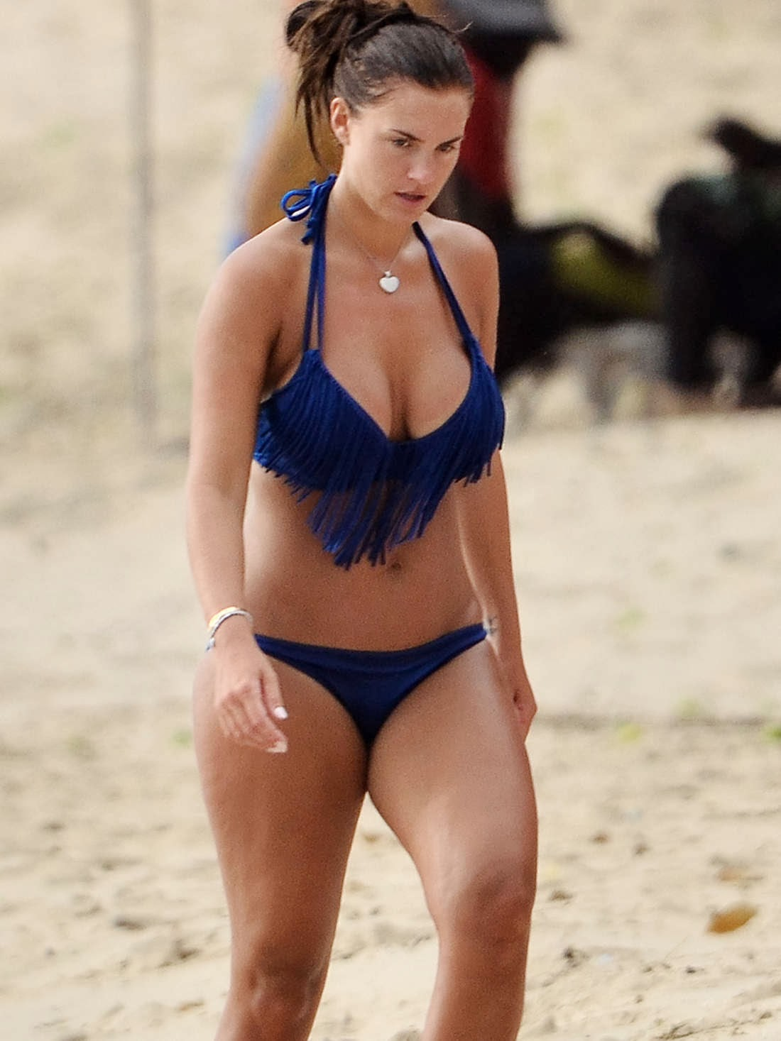 Sylvie Meis Hot In Mini Dress Beach In I A Aug 2014 Sexy