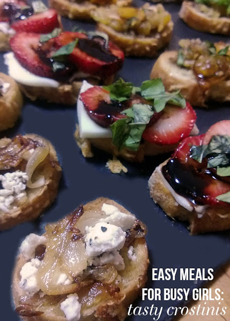 Easy Meals for Busy Girls: Tasty Crostinis