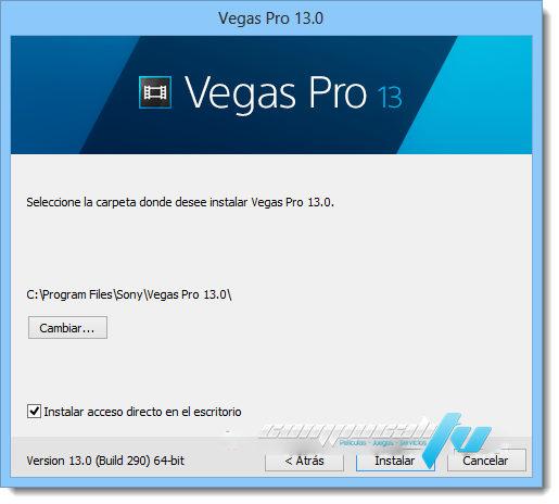 SONY Vegas PRO Versión 13.0.453 Español