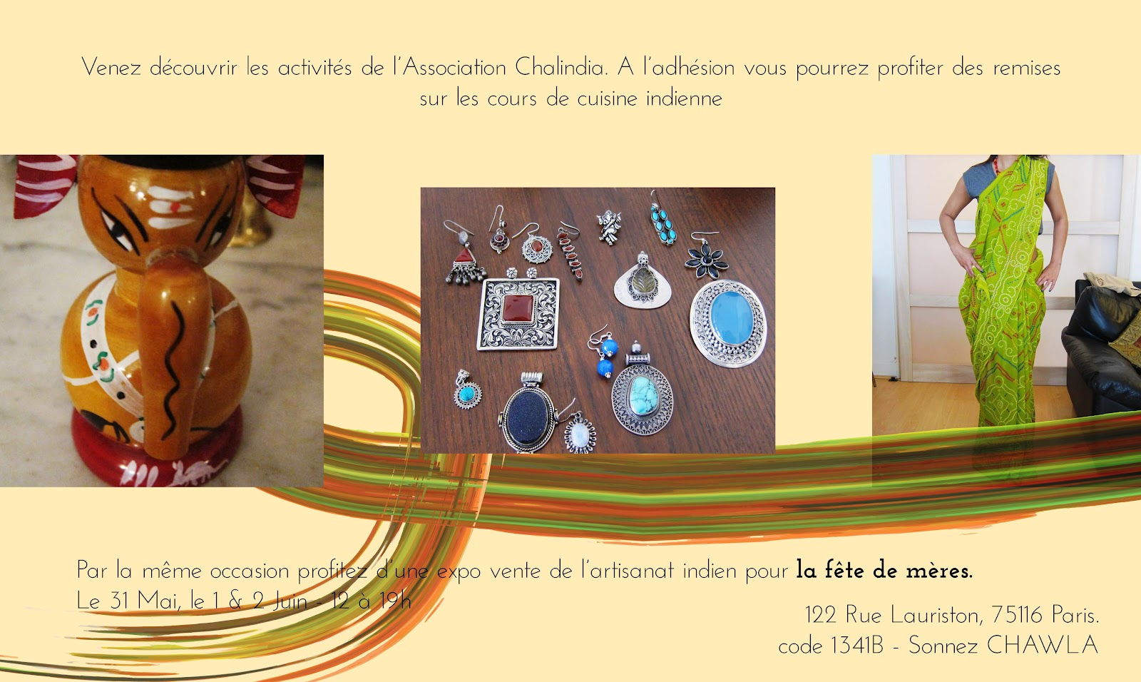 arome art de cuisiner indienne avec poonam paris mai 2012. Black Bedroom Furniture Sets. Home Design Ideas