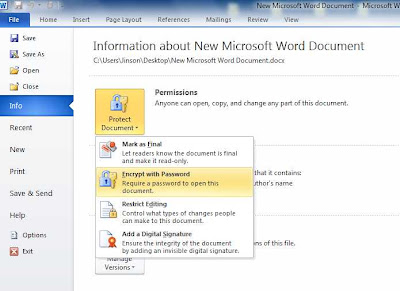 MS word secure