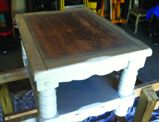 my first diy chalkboard painted coffee table