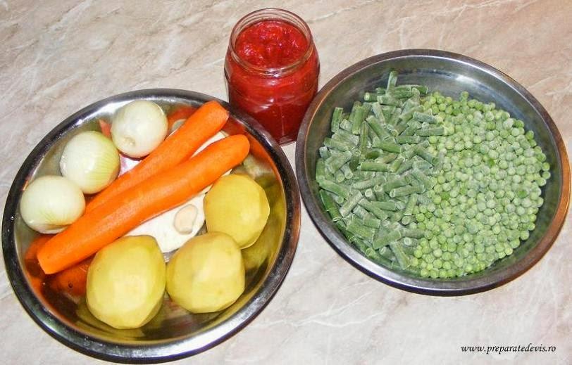 ingrediente pentru ghiveci de legume, ingrediente pentru tocana de legume, retete culinare de mancare,