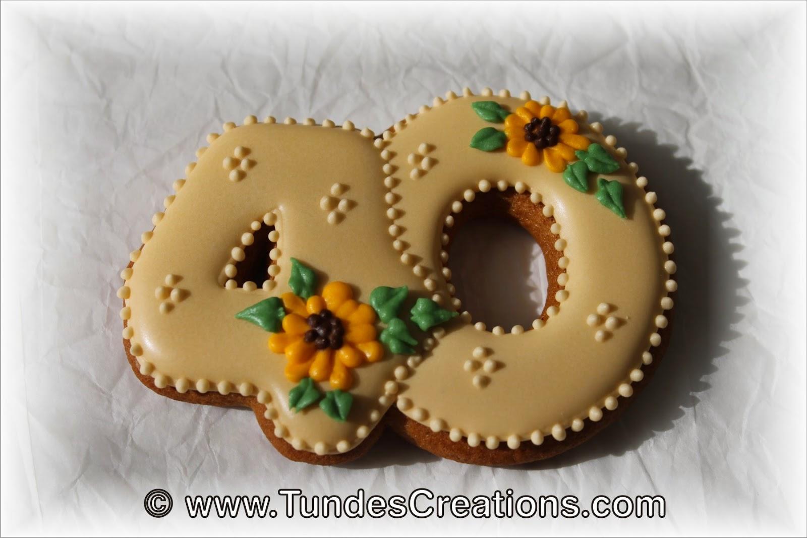 Number 40 cookies