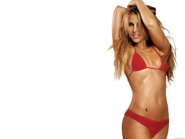 Elsa Pataky sexy in red lingerie fashion