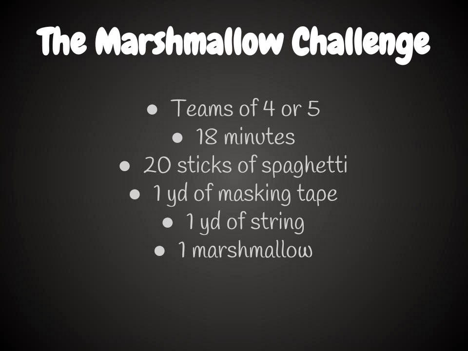 960 x 720 jpeg 51kB, The Marshmallow Challenge, a Great Team Building ...