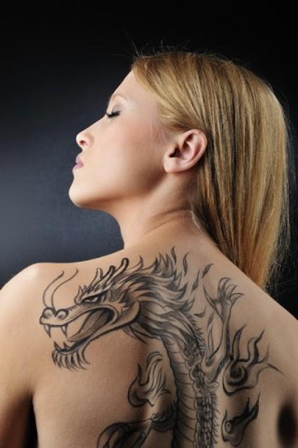 Back Body dragon Tattoo For Women