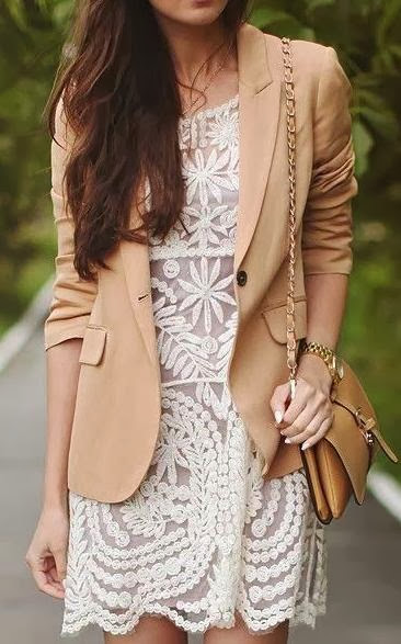 Lace Dress With Blazer