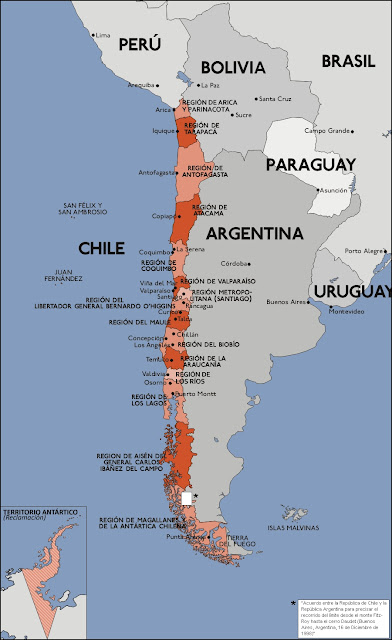 mapa chile argentina