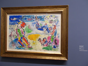 """Marc.Chagall painting at """"Albertini Museum"""" in Vienna."""