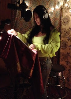 Cher in the recording studio, August 2012