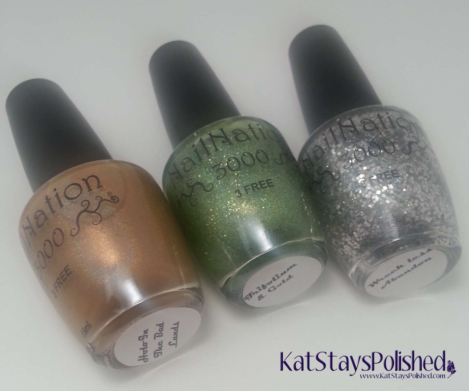 NailNation3000 - Holo in the Bad Lands, Trifolium & Gold, and Wreckless Abandon | Kat Stays Polished