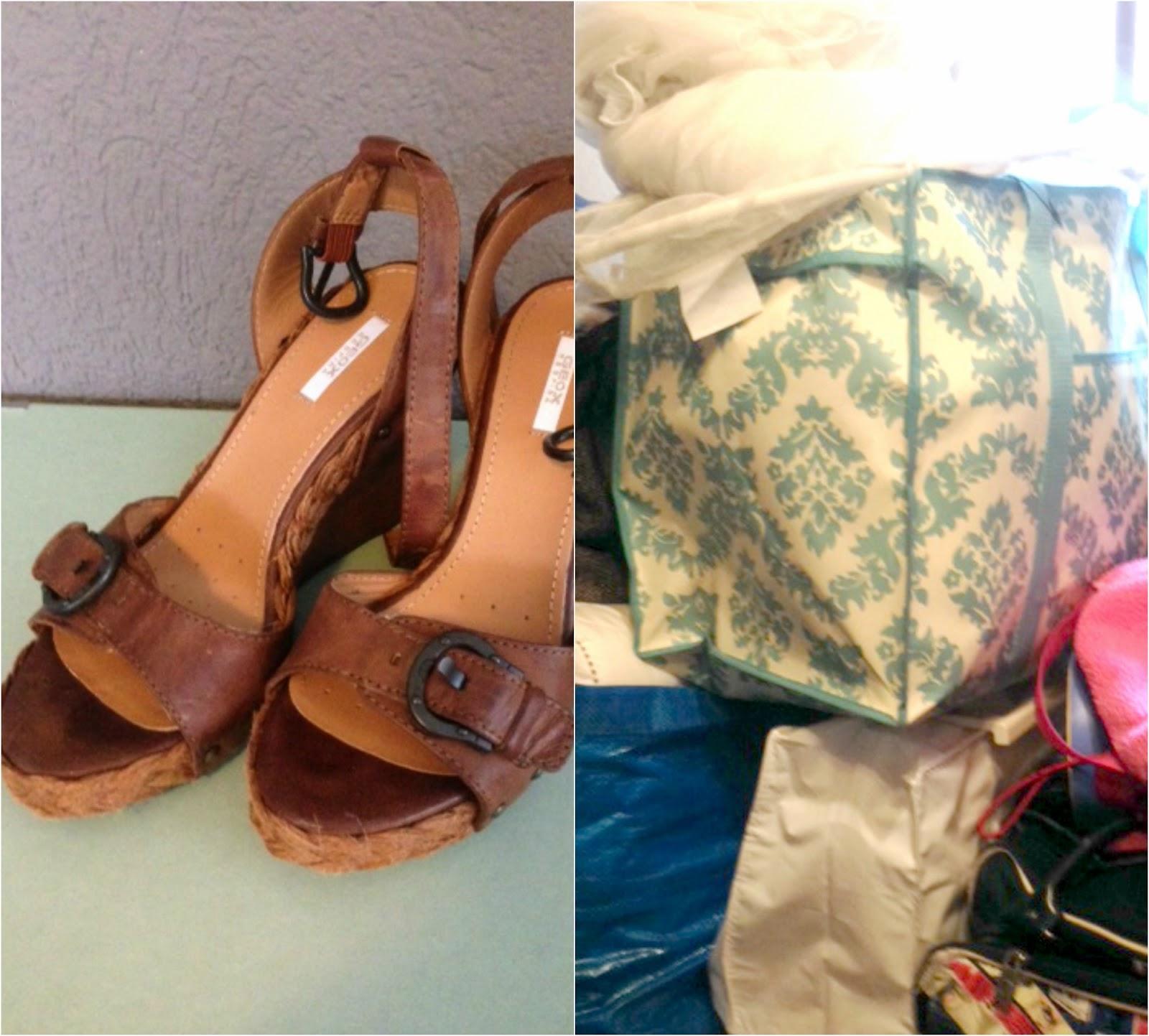 Neue Schuhe rein in den Schrank, altes raus auf den Flohmarkt