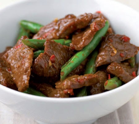 Hot and sour beef stir-fry with green beans recipe -Taste USA