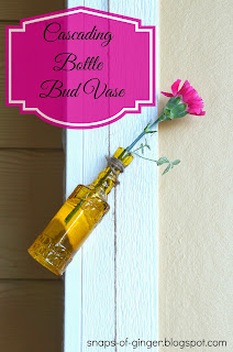 DIY Cascading Bottles Bud Vase