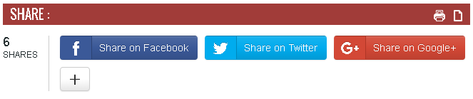 social share button