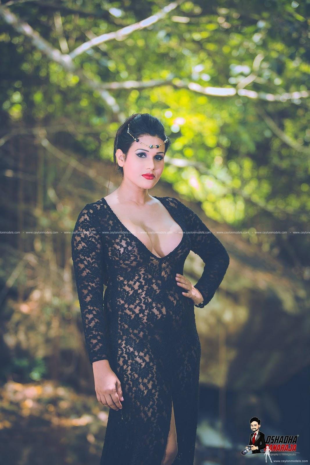 sri lankan model transparent black dress photo shoot hot model wet in water photo shoot chami asanka model hot photo collection on ceylon models page