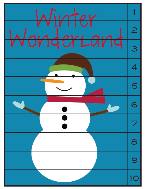 Part of the Winter Wonderland pre-K pack free to download here from ...